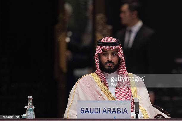 Saudi Arabia Deputy Crown Prince Mohammed bin Salman attends the G20 opening ceremony at the Hangzhou International Expo Center on September 4 2016...