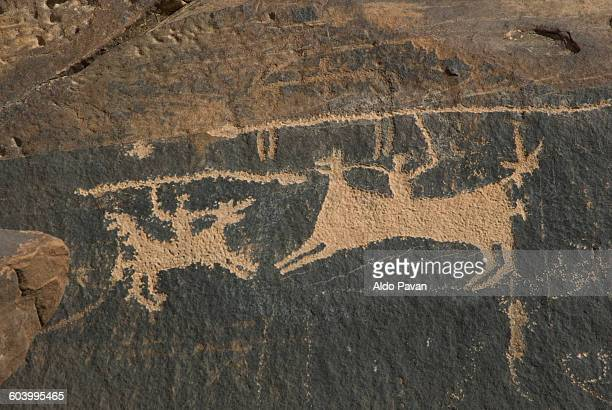 Saudi Arabia, Jubbah, old rock carving