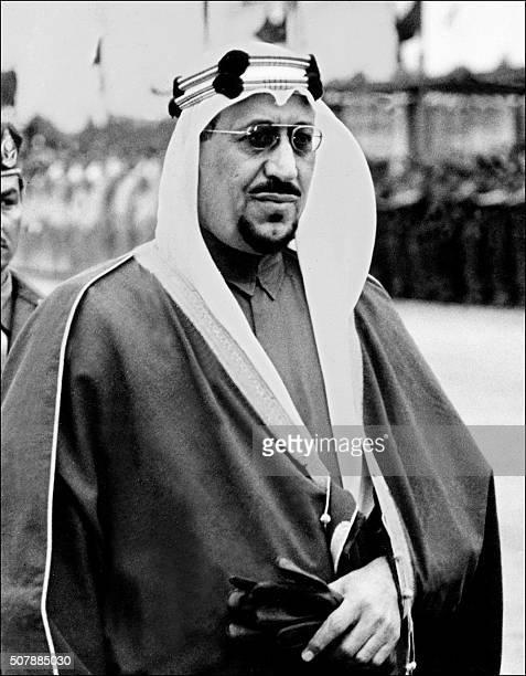Saudi Arabia King Saud ibn Abd al-Aziz reviews Saudi army troops in November 1961 in Ryiadh. Saud ibn Abd al-Aziz succeeded his father King Ibn Saud...