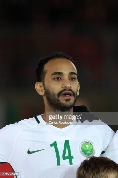 Saudi Arabia midfielder Abdullah Otayf during the match between Portugal and Saudi Arabia InternationalFriendly at Estadio do Fontelo on November 10...