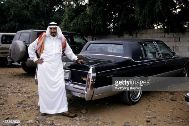 Saudi Arabia Near Abha Al Darb City Local Man With Cadillac