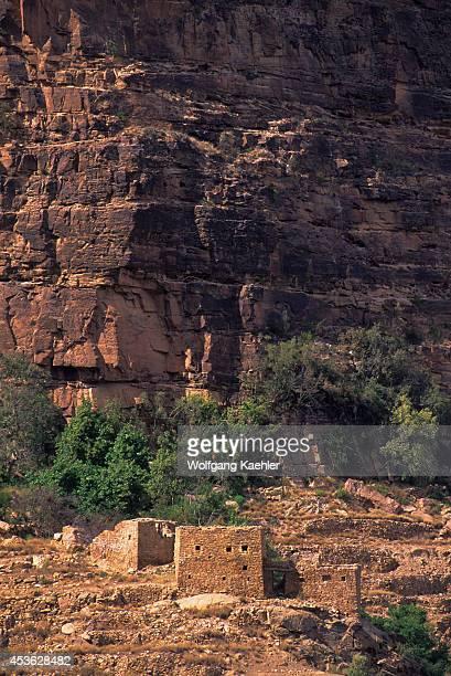 Saudi Arabia Near Abha Asir National Park Habala Village Cliffside House