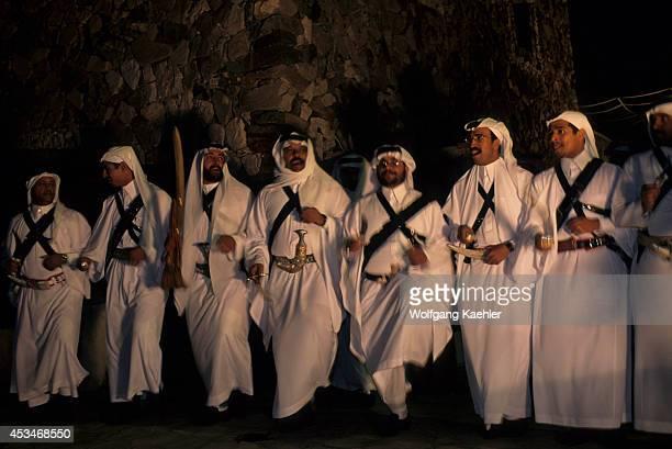 Saudi Arabia Near Abha Ben Hamasan Traditional Village Dances