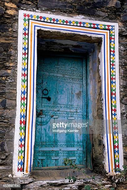 Saudi Arabia Near Abha Wadi Al Aws Rijal Alma Village Old House Door