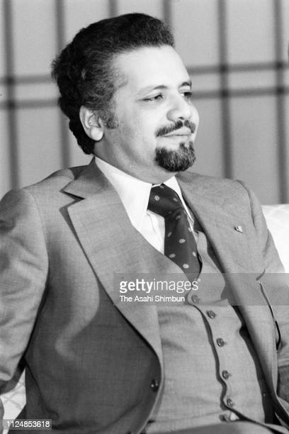 Saudi Arabia Petroleum and Mineral Resources Minister Ahmed Zaki Yamani speaks during a press conference at the Iikura Guest House on January 27 1974...