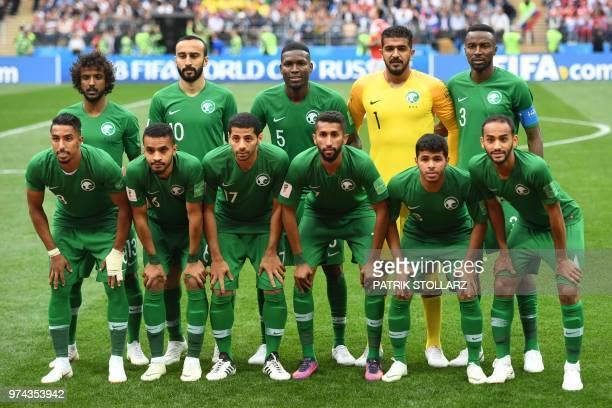 Saudi Arabia players Saudi Arabia's defender Yasser AlShahrani Saudi Arabia's forward Mohammed AlSahlawi Saudi Arabia's defender Omar Hawsawi Saudi...