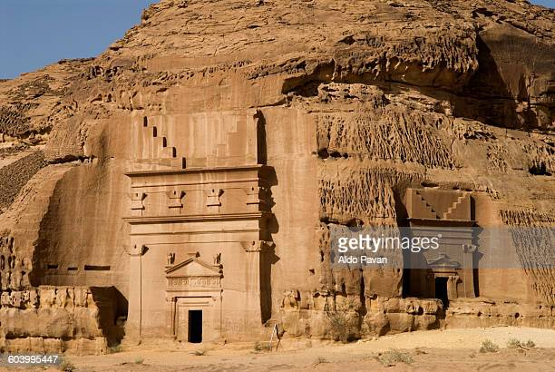 saudi arabia, site of mada'in saleh - mada'in saleh stock pictures, royalty-free photos & images