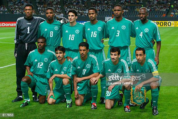 Saudi Arabia team group in the first half during the Germany v Saudi Arabia Group E World Cup Group Stage match played at the Sapporo Dome Sapporo...