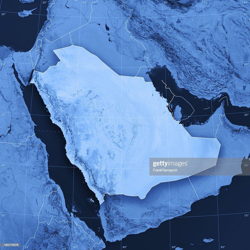 Topographic Map Of Saudi Arabia.Saudi Arabia Topographic Map Stock Photo Getty Images