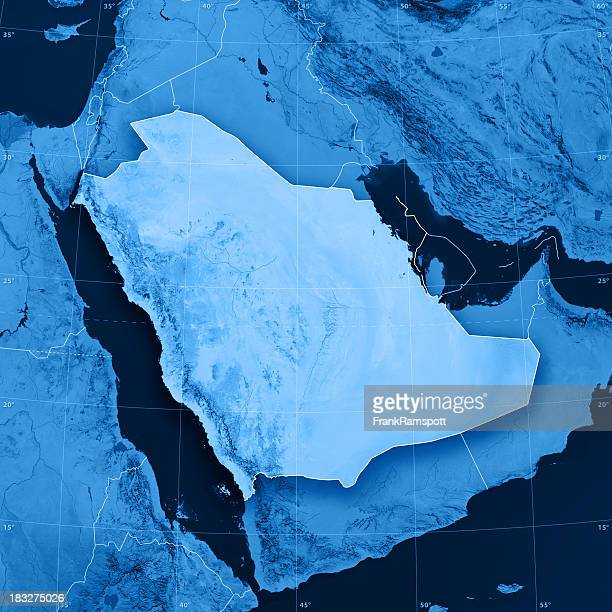 saudi arabia topographic map - frank ramspott stock pictures, royalty-free photos & images
