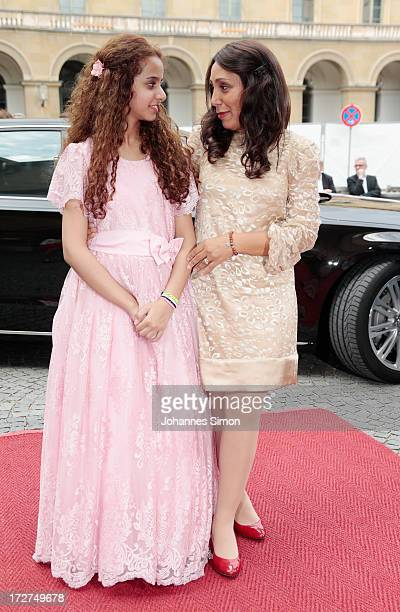Saudi Arabian actress and award winner Waad Mohammed and Saudi Arabian director Haifaa Al Mansour arrive for the Bernhard Wicki Award ceremony at...