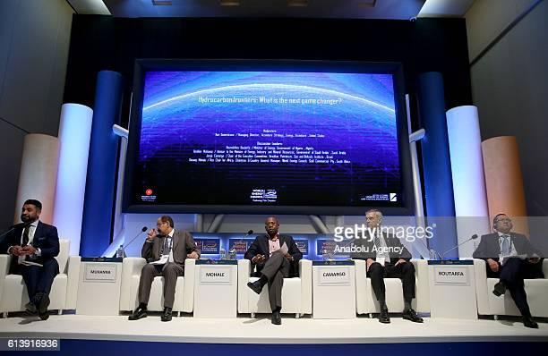 Saudi Arabian Energy Industry and Mineral Resources Minister's Advisor Ibrahim Muhanna Algerian Energy Minister Noureddine Boutarfa Chairman of the...