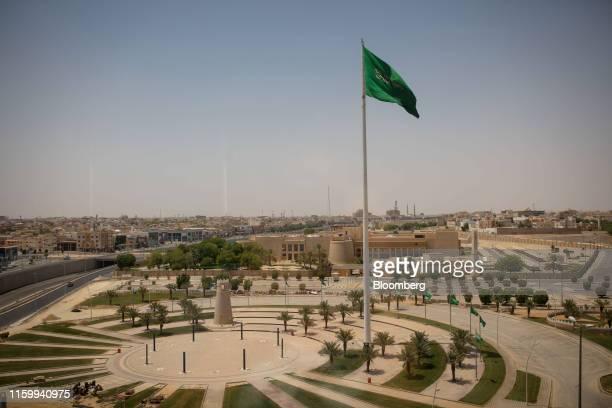 A Saudi Arabian flag flies in the city of Buraidah Saudi Arabia on Sunday Aug 4 2019 Buraidah is the capital of Saudi Arabias conservative heartland...
