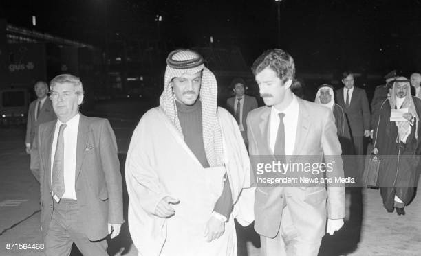 Saudi Arabian Foreign Affairs Minister His Royal Highness Prince Saud Al Faisal arrived in Dublin Airport for an official visit circa November 1983