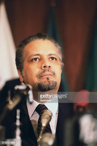 Saudi Arabian representative at an OPEC meeting in Geneva Switzerland Minister Ahmed Zaki Yamani