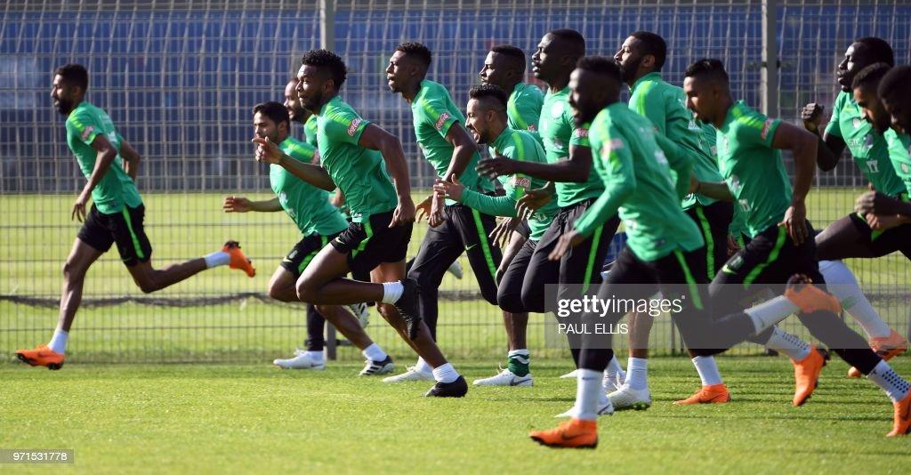 FBL-WC-2018-KSA-TRAINING : News Photo