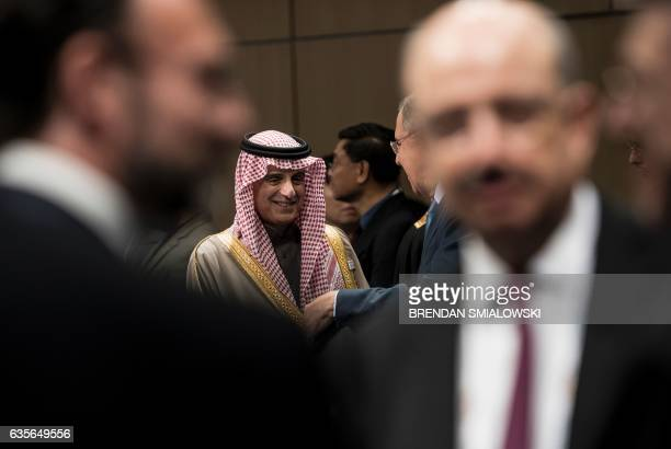 Saudi Arabia's Foreign Minister Adel bin Ahmed AlJubeir waits for an opening session meeting of G20 foreign ministers at the World Conference Center...