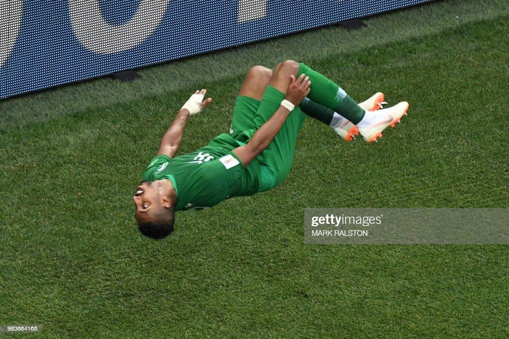 TOPSHOT-FBL-WC-2018-MATCH34-KSA-EGY : News Photo