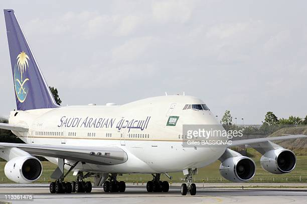 Saudi Arabia'S King Abdullah Is Welcomed By France'S Prime Minister Francois Fillon Upon His Arrival At Orly Airport In Paris France On June 20 2007...