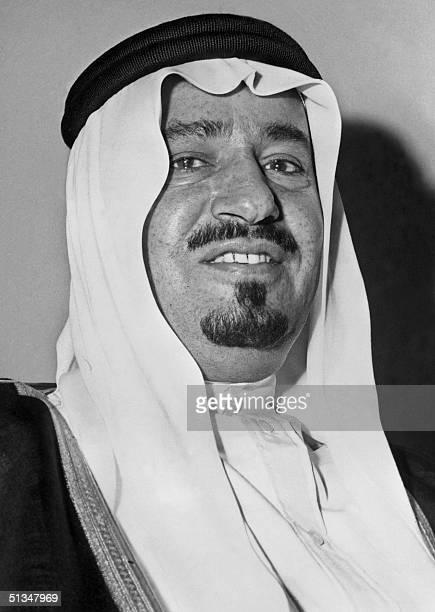 Saudi Arabia's King Khaled ibn Abdul Aziz al-Saud, brother of Prince Faisal bin Abdul Aziz al Saud, smiles in April 1965 during his visit to Lebanon....