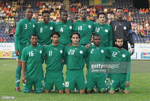 Saudi Arabia's national football team poses for a picture prior to their match against Belgium friendly football match in Sittard 11 May 2006 in...