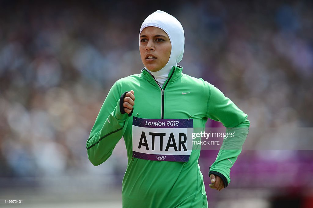 Saudi Arabia's Sarah Attar competes in t : News Photo