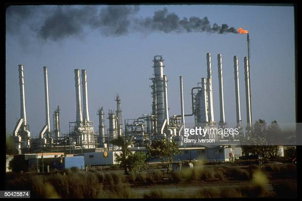 Saudi Aramco oil refinery at Ras Tanura Saudi Arabia