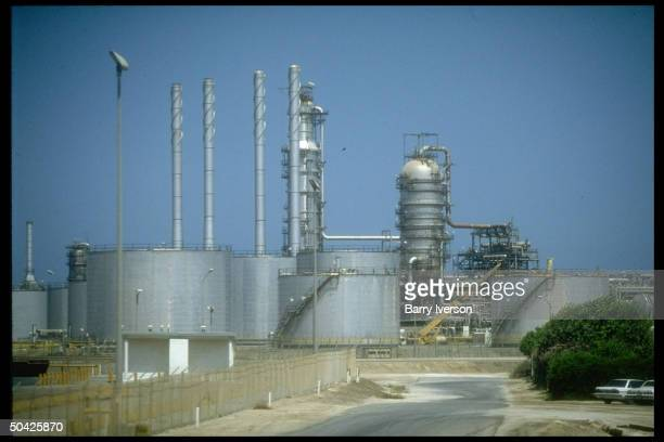 Saudi Aramco oil refinery loading terminal storage processing facilities at Ras Tanura Saudi Arabia