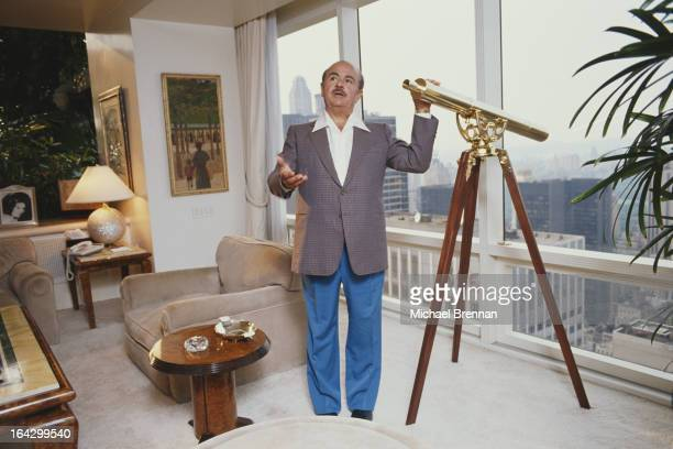 Saudi arms dealer Adnan Khashoggi in his Fifth Avenue apartment in New York City, June 1990.
