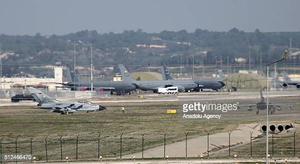 Saudi cargo plane lands at Incirlik base in Adana southern Turkey on February 26 2016 Four Saudi fighter jets which will support the coalition forces...