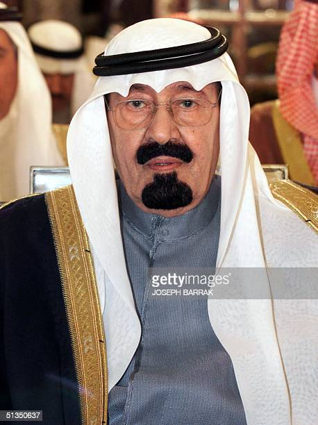 Saudi Crown Prince Abdullah bin Abdul Aziz attends the closing session of the Arab League summit in Beirut 28 March 2002 The Arab summit ended here...