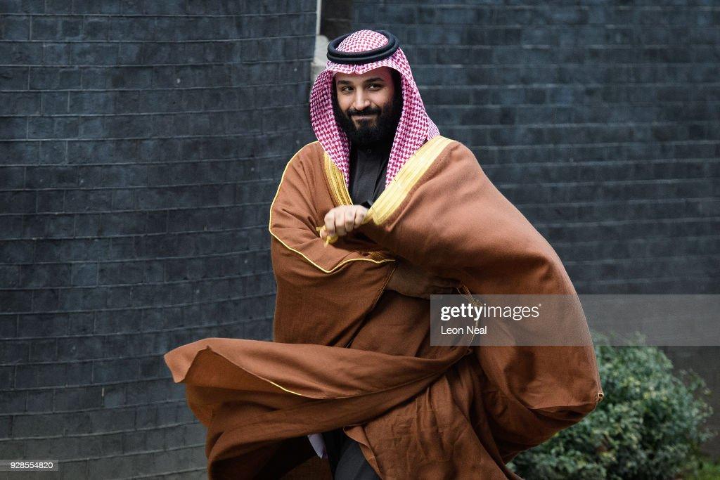 The Crown Prince Of Saudi Arabia Visits The UK : Foto jornalística