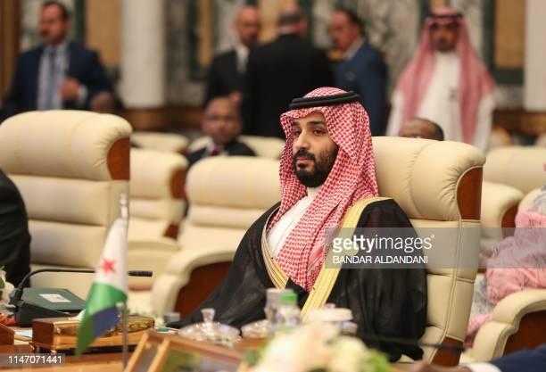 Saudi Crown Prince Mohammed bin Salman attends the extraordinary Arab summit held at al-Safa Royal Palace in Mecca on May 31, 2019.