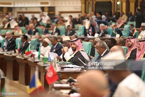 Saudi Crown Prince Mohammed bin Salman attends the opening session of a summit of the 57-member Organization of Islamic Cooperation in the Saudi holy...