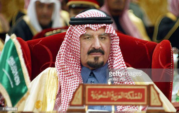 Saudi Defence Minister Prince Sultan bin Abdul Aziz attends 20 December 2004 the six-nation Gulf Cooperation Council summit in Manama. Leaders of...