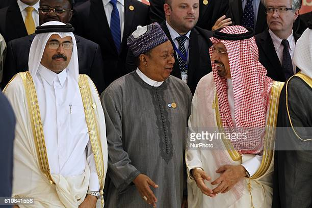 Saudi Energy Minister Khaled alFaleh attends the 15th International Energy Forum in Algiers on September 27 on the eve of an informal OPEC meeting...