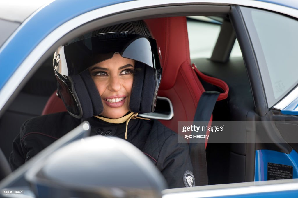 saudi female racing driver aseel al hamad completes a lap of