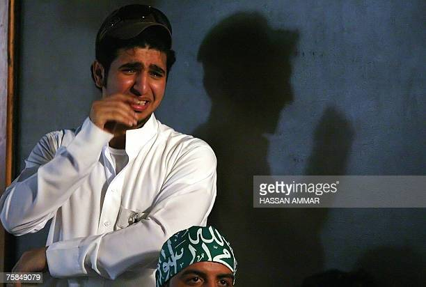 A Saudi football fan cries after his team lost for Iraq the final match of the Asian Football Cup 2007 in Riyadh 29 July 2007 Skipper Younis...