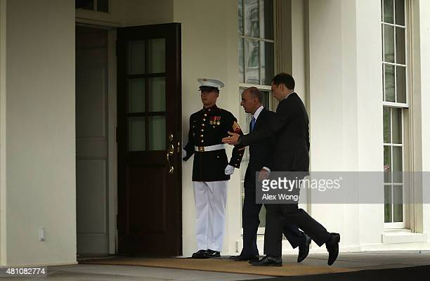 Saudi Foreign Minister Adel al-Jubeir arrives at the White House for a meeting with U.S. President Barack Obama July 17, 2015 in Washington, DC....