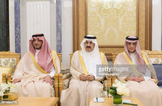 Saudi Foreign Minister Adel alJubeir Saudi Interior Minister Abdulaziz bin Saud bin Nayef bin Abdulaziz Al Saud and Saudi Minsiter of State Musaed...