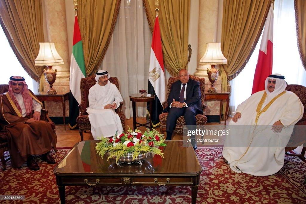 EGYPT-SAUDI-UAE-BAHRAIN-QATAR-DIPLOMACY : News Photo