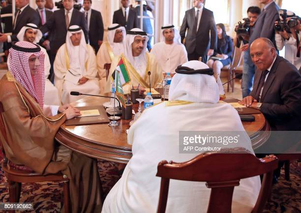 Saudi Foreign Minister Adel alJubeir UAE Minister of Foreign Affairs and International Cooperation Abdullah bin Zayed AlNahyan Bahraini Foreign...