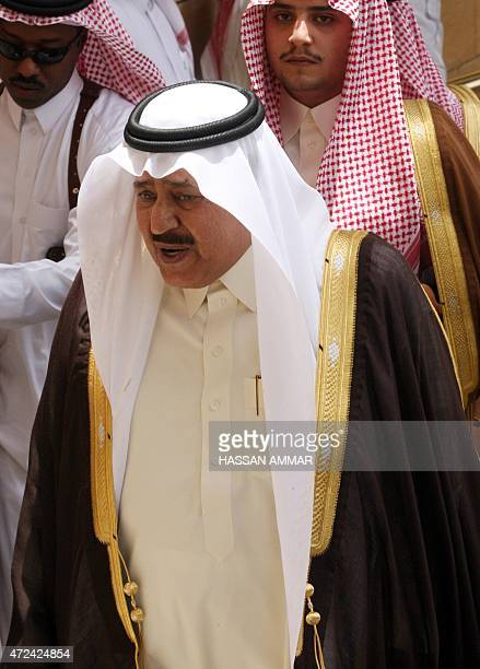 Saudi Interior Minister Prince Nayef bin Abdul Aziz alSaud arrives at the funeral of his halfbrother the late governor of the Muslim holy city of...
