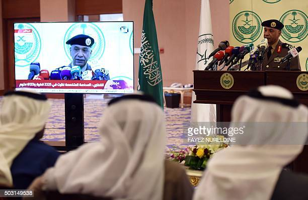 Saudi Interior Ministry's spokesman Mansur alTurki speaks during a news conference at the Saudi Officers club in Riyadh on January 2 following the...
