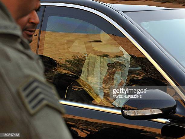 Saudi King Abdullah bin Abdul Aziz alSaud leaves after attending the funeral of late Saudi Crown Prince Sultan bin Abdul Aziz at Imam Turki bin...