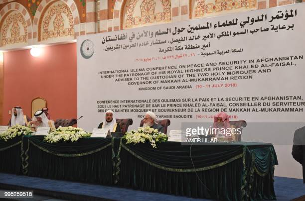 Saudi King Salman bin abdulazziz advisor and Grand mosque Imam Saleh bin Hmaid Afghanistan's representative and head of scholars council in...