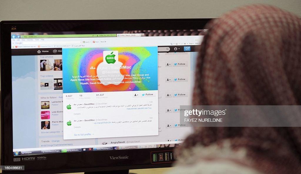SAUDI-MEDIA-INTERNET-SOCIETY : News Photo