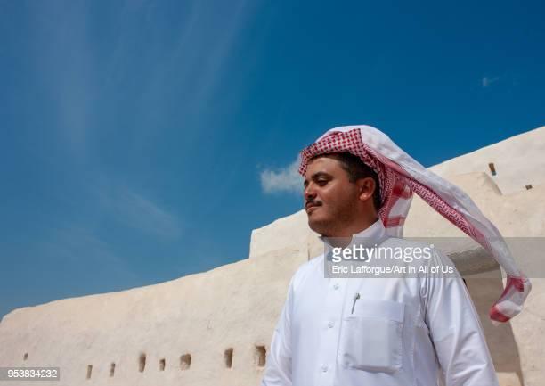 Saudi man in qalu2019at alatrak the ottoman castle Jizan Region Farasan island Saudi Arabia on January 14 2010 in Farasan Island Saudi Arabia