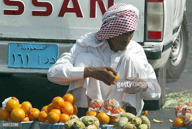 Saudi man sells fruits in Riyadh 01 August 2005 Crown Prince Abdullah bin Abdel Aziz has been named ruler of the world's top oil exporter following...