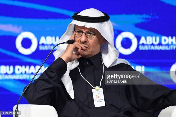 Saudi Minister of Energy Prince Abdulaziz bin Salman al-Saud attends the Future Sustainability Summit at Abu Dhabi National Exhibition Centre on...